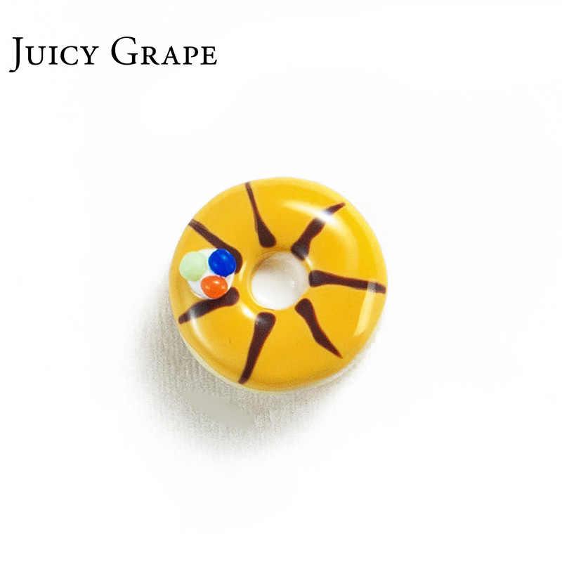 Saftig Trauben Neue Ankunft Hand Gemalt Emaille Glasur Ohrringe Kupfer Vergoldeten 925 Splitter Nadel Süße Donut Stud Ohrringe