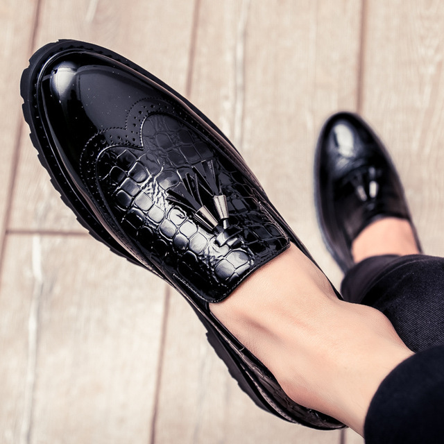 2019 Men Casual shoes breathable Leather Loafers Office Shoes For Men Driving Moccasins Comfortable Slip on Fashion Shoes MA-23 4