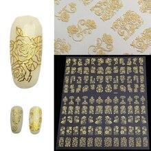 12 Простыни Детские Роскошный цветок Дизайн ногтей Стикеры Для женщин Маникюр кончик ногтя DIY украшения