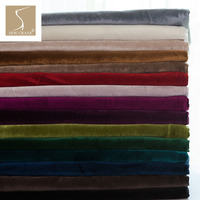280cm Wide Matte Velvet Cloth Curtain Fabric Upholstery Fabric Decorative Sofa Fabric Home Decor Cloth Cushion Fabric