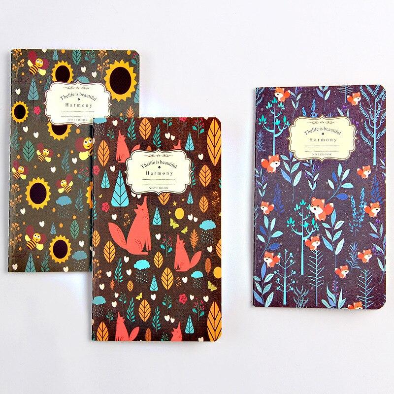 BPinteresting Pattern Restore Ancient Ways Kraft Small Notebook Flower Colour Notepad Exquisite Manuscripts Small Gift SGBJB3/4 jessica phenom цветное покрытие vivid colour exquisite 36 15 мл