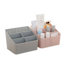 Lasperal Plastic Makeup Organizer Home Office Sundries Cosmetics Storage 5 Grids Desktop Jewelry Storage Box Container Drawer(China)