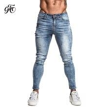 94206756e5a Gingtto hombres vaqueros Skinny azul denim cintura medio Classic Hip Hop  pantalones de algodón cómodo Dropshipping. exclusivo. D..