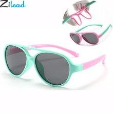 02ca09606 Zilead da Segurança Do Bebê Silicone Flexível Revestimento Óculos de Sol Da  Marca Polarizada óculos de Sol Dos Miúdos Crianças U..