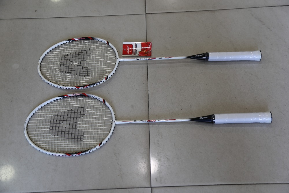 A Pair of Superior Badminton Racket Including  Bag Men Women Sports Training Rackets For Outdoor Activities