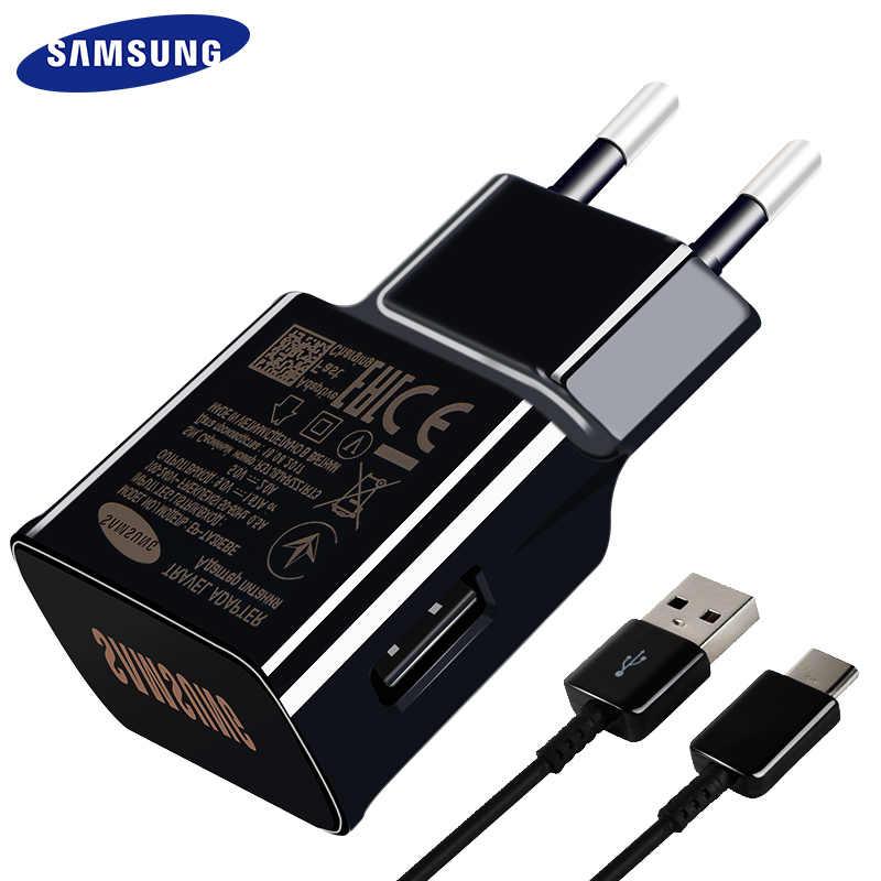 Samsung S8 S9 плюс! Оригинал! Быстрая Зарядное устройство 9V1. 67A & 5V2A 1,2 м Тип usb C кабель Быстрый адаптер EU/US/UK Note8 S 9 S 8 C5 C7 C9pro