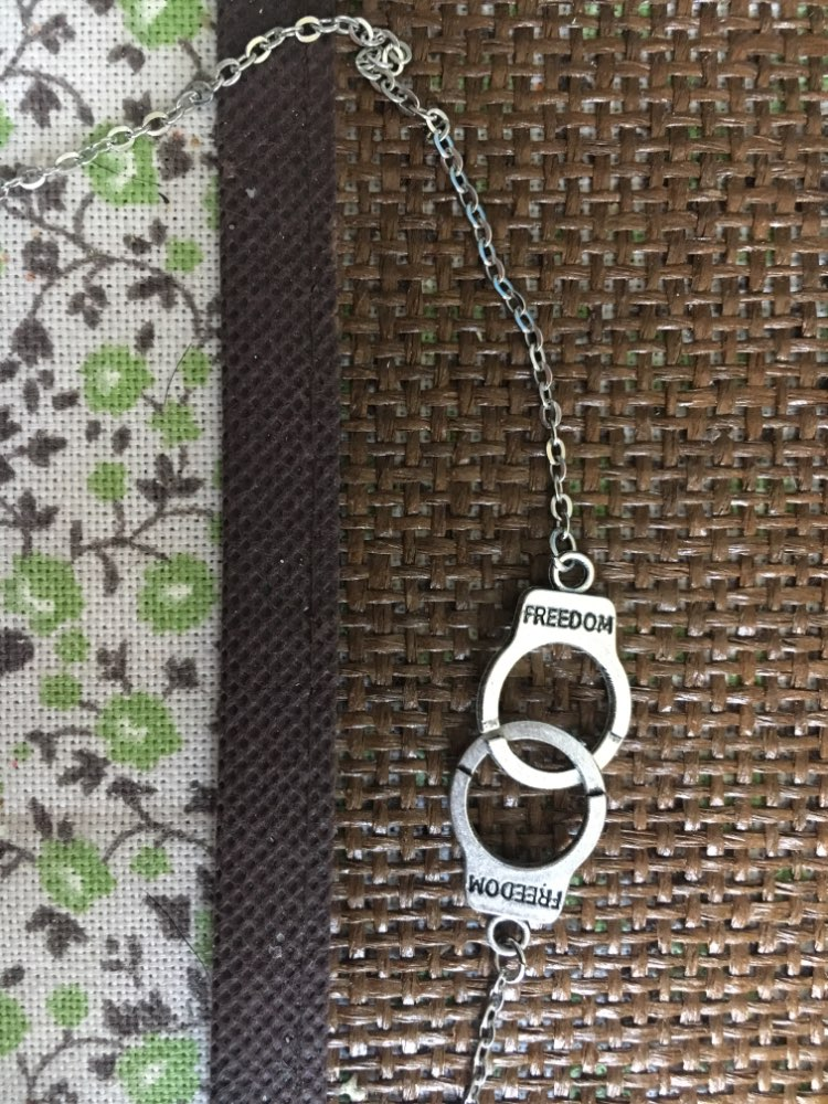 Freedom Handcuffs Choker Pendant photo review