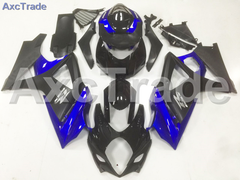 Motorcycle Fairings For Suzuki GSXR GSX-R 1000 GSXR1000 K7 2007 2008 07 08 ABS Plastic Injection Fairing Bodywork Kit Blue Black abs plastic fairing kit for suzuki gsxr1000 2007 2008 k7 gsxr 1000 07 08 red black moto fairings set cb34 7 gifts
