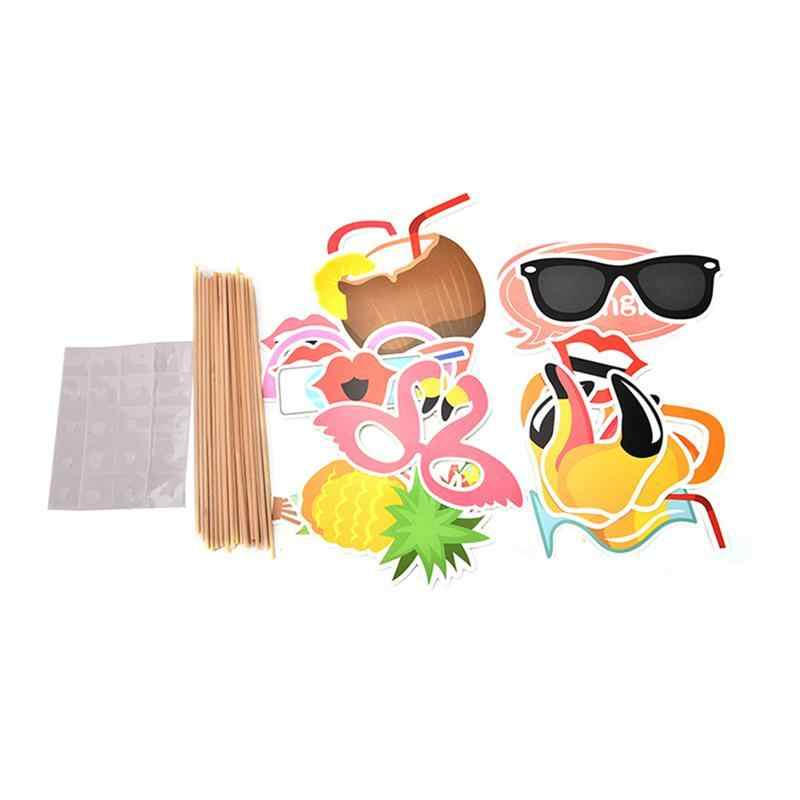 21 шт. Фламинго Гавайи тематические летние фотобанк реквизит Набор DIY подержанные товары Luau для праздника свадебные пляжные Вечерние