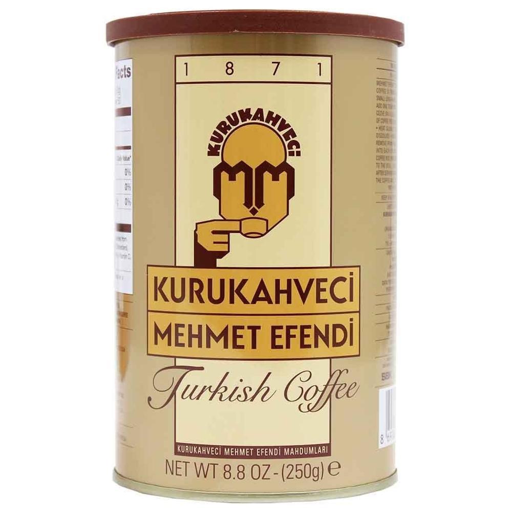 Turkish Coffee Kurukahveci Mehmet Efendi -Gift Box- Lot Ground Coffee