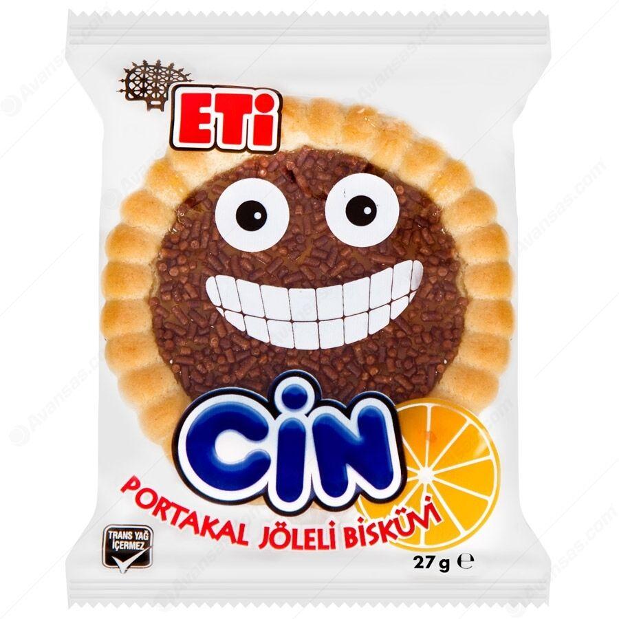 ULKER Turkish Halal ETI Cin Orange Biscuit 27 Gr*36 Pcs Helal