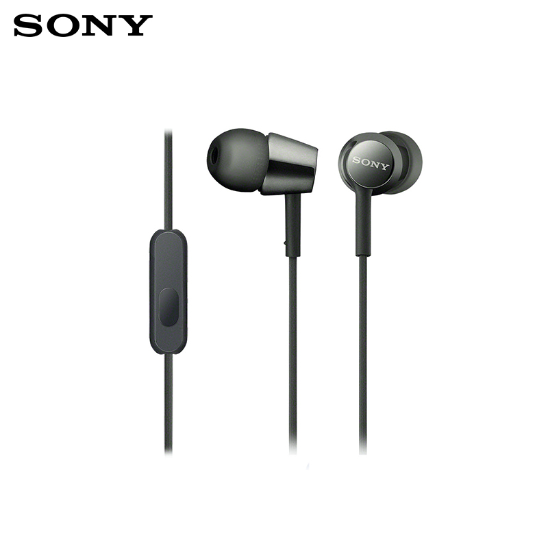 in-ear Headphones Sony MDR-EX155AP in-ear  mic microfon in ear earphone heavy bass stereo headphones music earbud 3 5mm earpieces with mic for phone computer mp3 player laptop