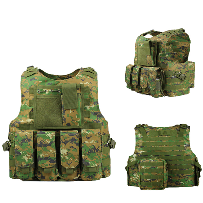 Forces Training Vest Tactical Vests Assault Vests Military Armor  Equipment Airsoft Paintball Vest Adjustable Shoulder Straps