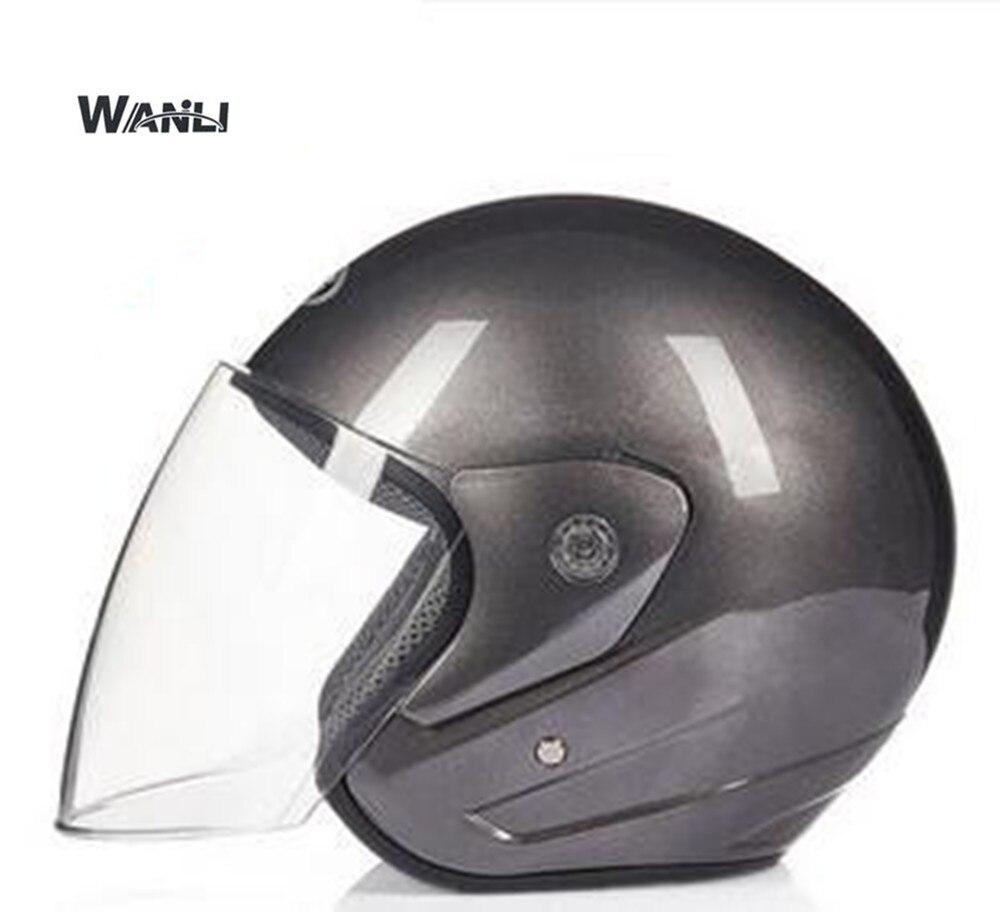 WO Для мужчин мотоциклетный шлем Новые Половина лица езда шлем мотоциклетные розовый цвет шлем для Для мужчин и женщина косметическая шапоч...