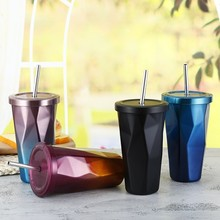 Gradient Stainless Steel Smoothie Tumbler