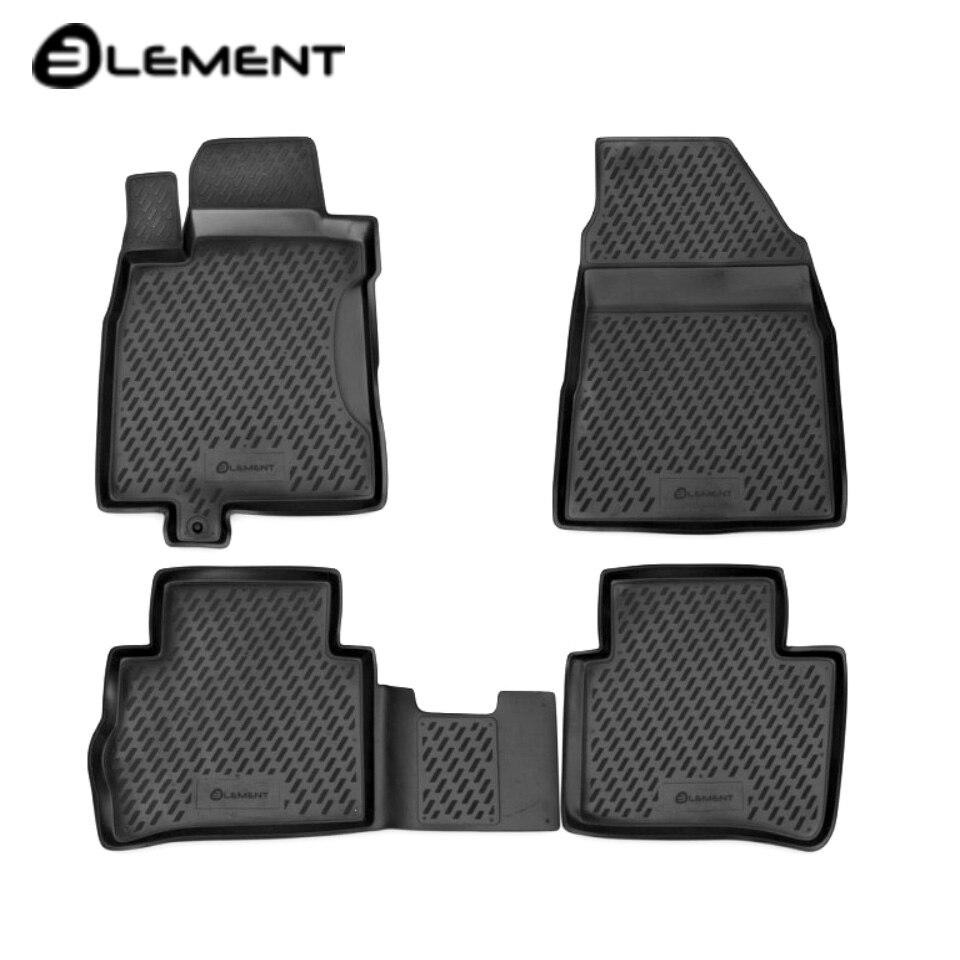 For Nissan Tiida 2004-2014 floor mats into saloon 4 pcs/set Element CARNIS00029 for haval h6 fwd 2014 2019 3d floor mats into saloon 4 pcs set element element3d9922210k