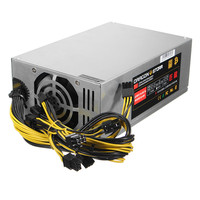6pin 10 1600W ATX Switching Power Supply PC For ETH S7 S9 For L3 Mining Machine