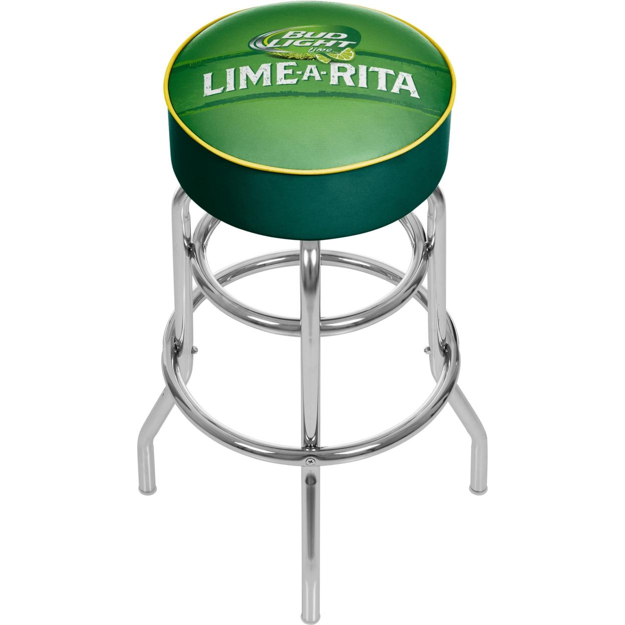 Bud Light Lime-A-Rita Padded Swivel Bar Stool 30 Inches High 30 Inches High sti7162 bud sti7162 bbud