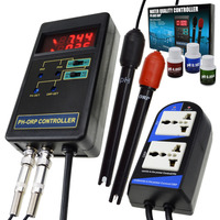 2 в 1 Цифровой pH & ОВП редокс контроллер мониторинга качества воды тестер Сменный электрод BNC Тип зонд 14.00pH/1999mV