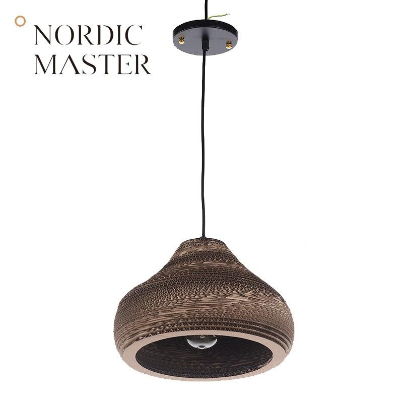 Nordic Master Modern Pendant Lights Lamps for Dining Room Black White Fashion LED Pendant Lighting Simple Suspension Lamp 60031S