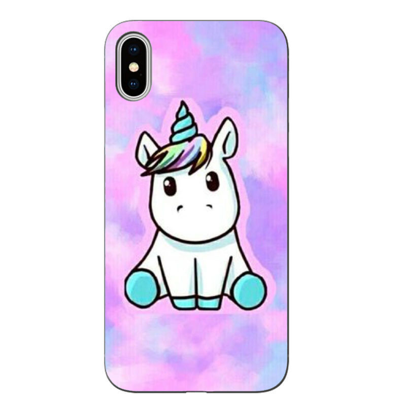 Matte Soft silicone Cute Hippo Unicorn Horse Case Cover For Apple iPhone XS Max XR 8 7 X 6 Plus 5 5S SE 6 6S Phone Cases in Phone Pouches from Cellphones Telecommunications