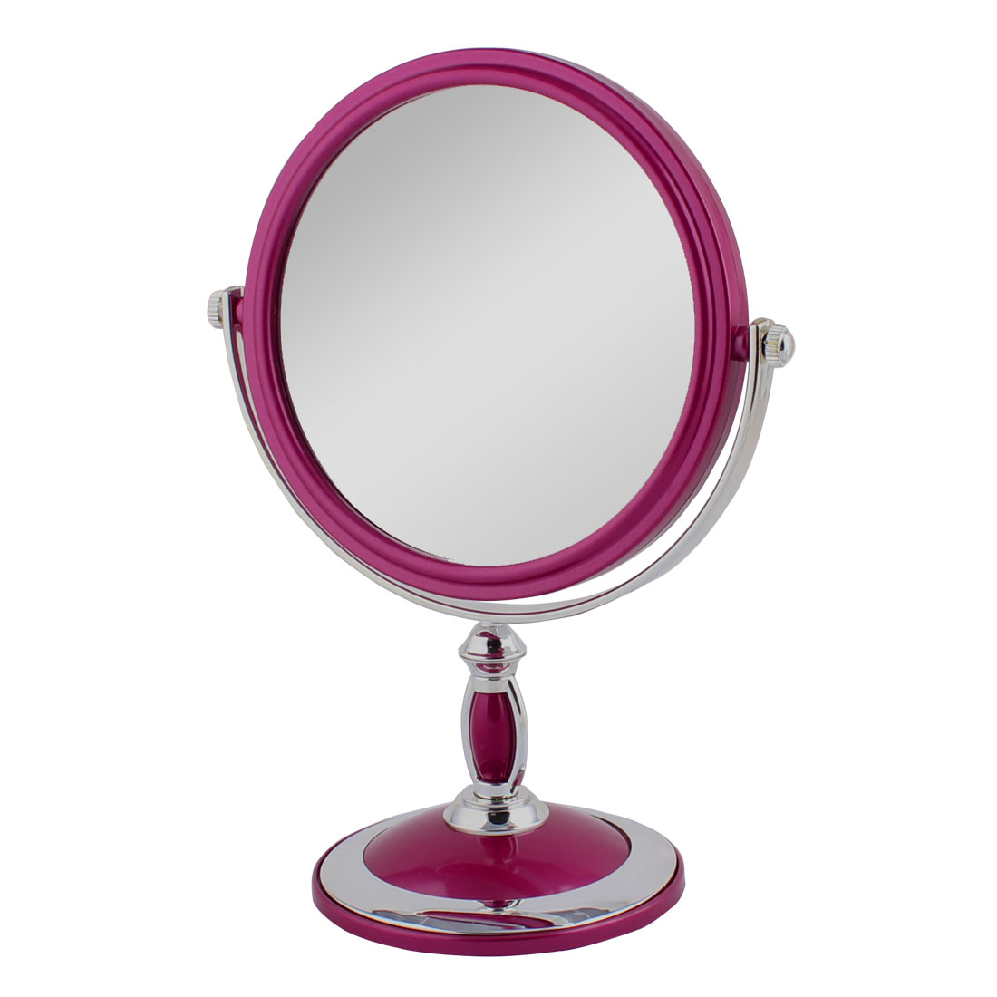 UXCELL Lady Dresser Metal Rim Classical Style Dual Sided Magnifying Standing Makeup Mirror
