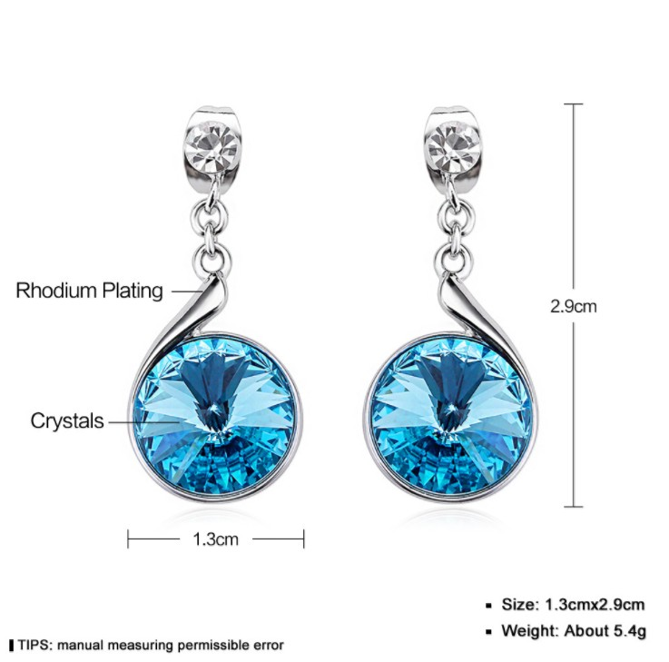 NEW Chain earrings Europe Crystals from Swarovski wedding Earring ...