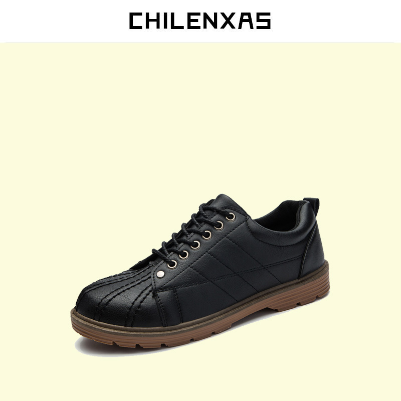 CHILENXAS 2017 autumn winter oxfords shoes genuine leather men casual new fashion comfortable breathable boots watetproof solid kelme 2016 new children sport running shoes football boots synthetic leather broken nail kids skid wearable shoes breathable 49