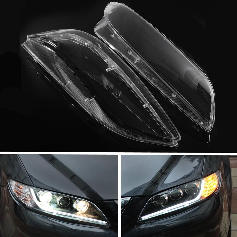 Car Headlight Lens Lampcover Cover Lampshade Bright Shell Dustproof Waterproof for Mazda 6 2003- 2008 Car Light Accessories