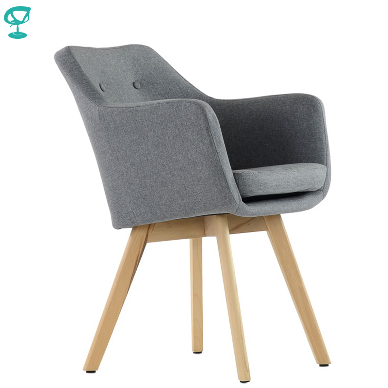 K100WdFbGray Barneo K-100 Fabric Interior Lounge Chair Furniture Living Room Armchair Wood Legs Gray Free Shipping In Russia