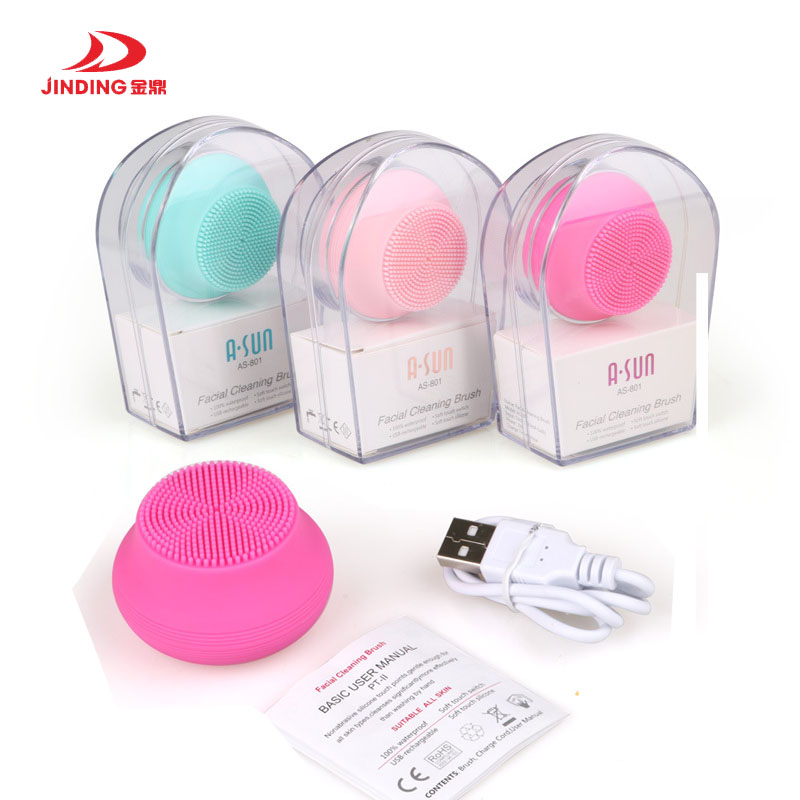 waterproof electric facial cleaning massage brush Mini electric facial cleaning massage brush silicone face cleanser dirt remove skin care tool electric facial cleaning massage brush sonic face washing machine waterproof silicone face cleanser dirt remove