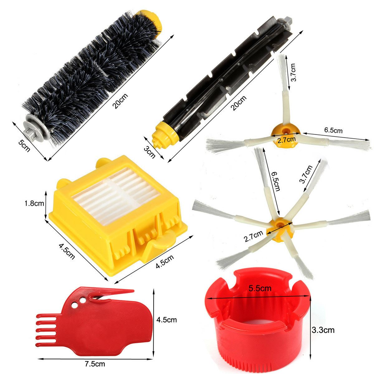 2018 New 16Pcs Hepa Filters And Flexible Beater Bristle Brush Kit 2 Side Brush For i Robot R oomba 700 Series Cleaning Tools high quality filters brush pack kit for 700 series new arrival