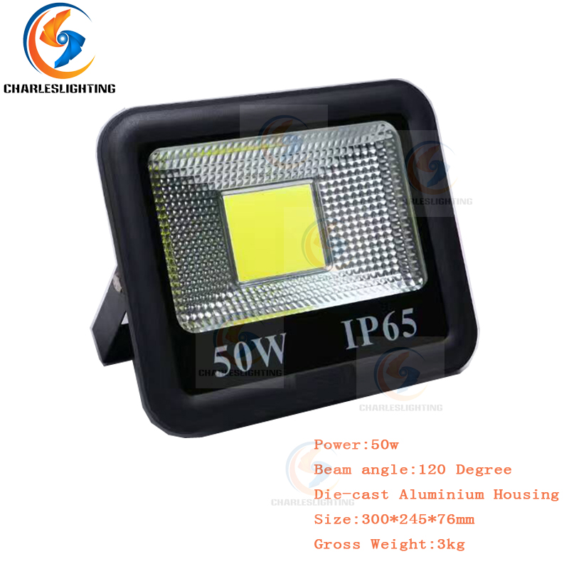 CHARLES LIGHTING 3 Years Warranty Outdoor COB LED Flood Lights 50W For Football and Basketball Field Water Proof Grade IP65 Lamp