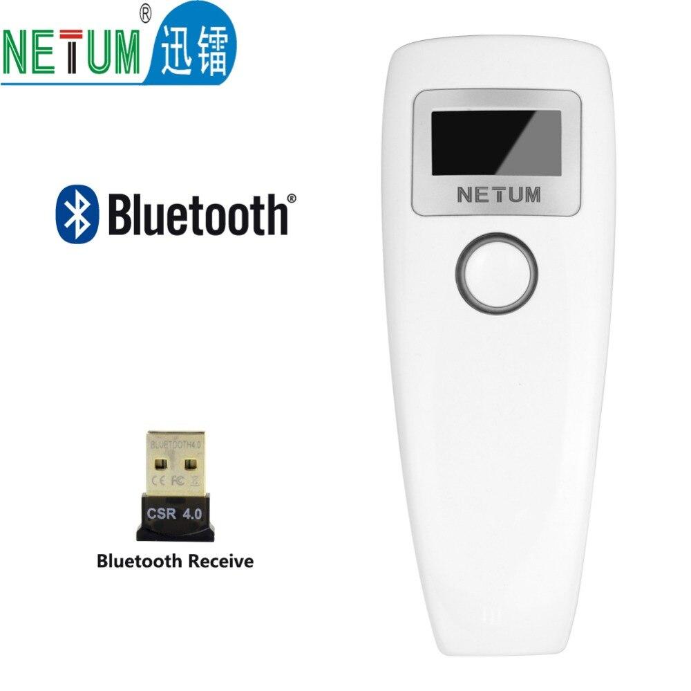 Карманный Беспроводной Bluetooth Сканер Штрих-Кода Портативный Мини CCD Считывания Штрих-Кода для iOS/Android Телефон HW-LMN3