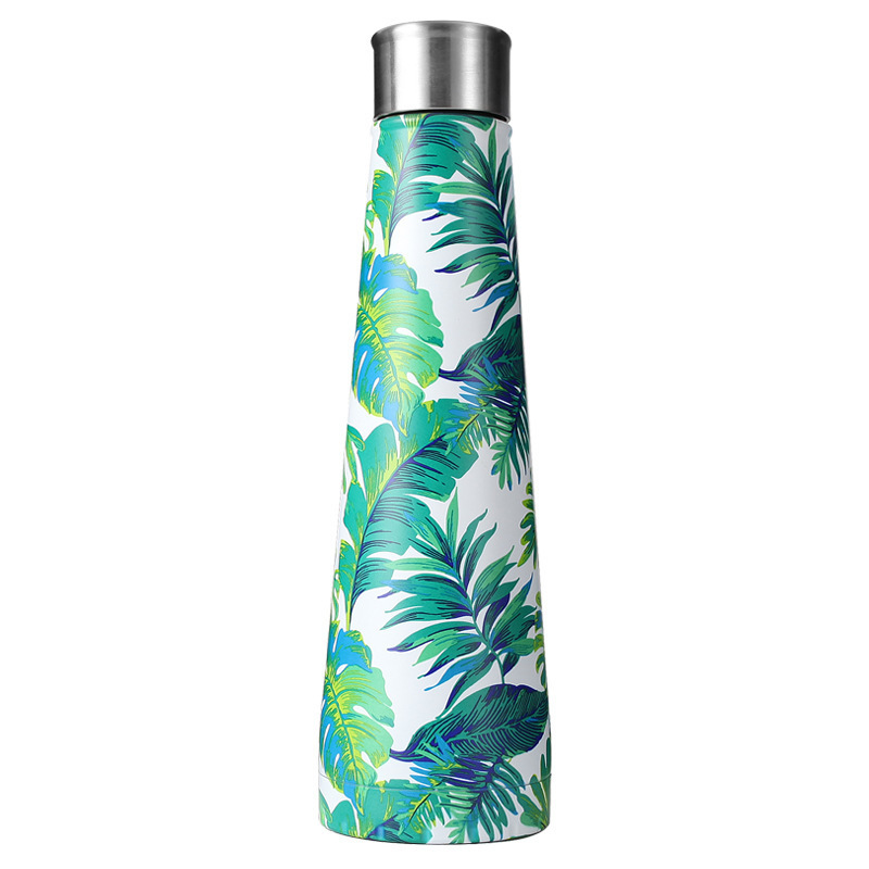 17oz Flower Stainless Steel water Bottle Cola Shape Bottle Vacuum Insulated Water Bottle Sports Outdoors Travel Cups Coffee Mugs in Water Bottles from Home Garden