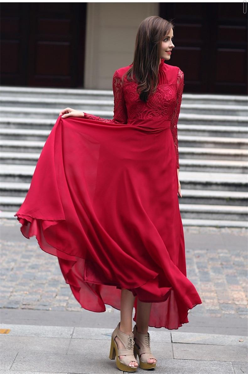 Empire Explosions Occasionnelle Correspondant Femmes D'été Robe Robes Rétro Dentelle Haute Qualité Loisirs Owa6q