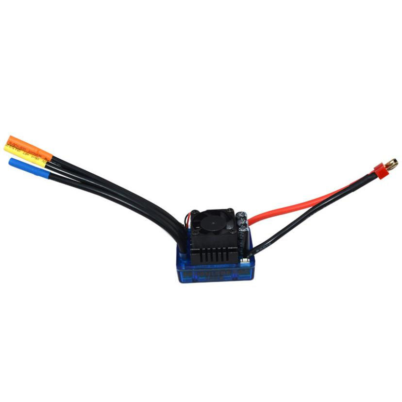 Sensorless 120A Brushless ESC Electric Speed Controller for RC Car Racing Set FT  IUNEED TOY Store new aeolian c2836 kv880 electric brushless speed controller 30a esc motor rc airplane quadcuopter