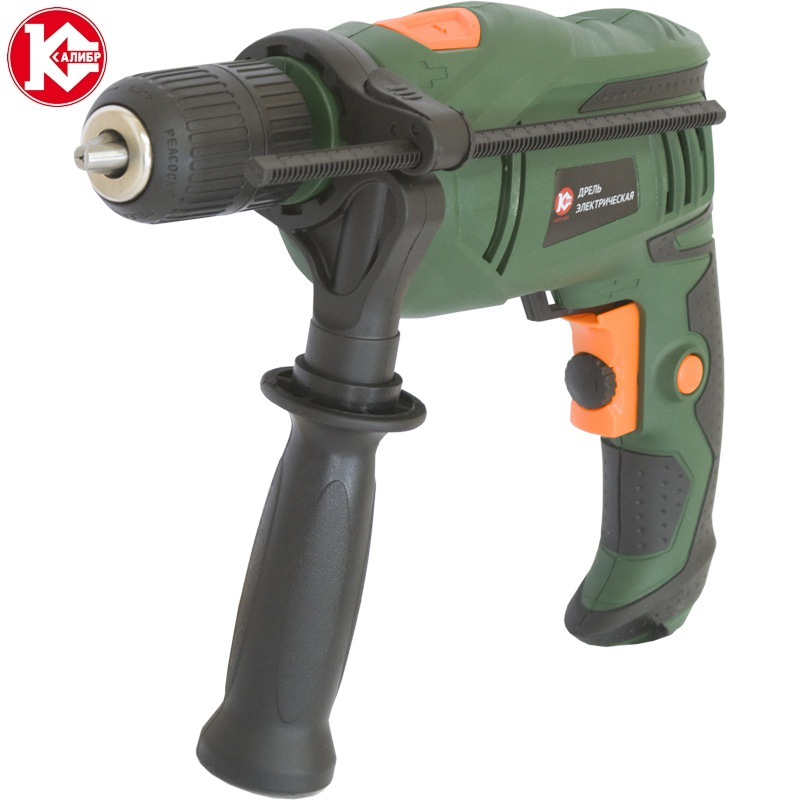 Impact electric drill Kalibr DE-680ERU+ kalibr demr 1050eru electric drill household impact drill multi function drill wall screwdriver gun light hammer powder tools