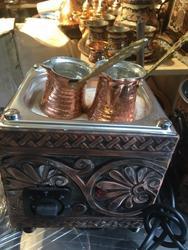 Turkish Arabic Copper Hot Sand Coffee Maker Coffee Heater Authentic Kumda Kahve
