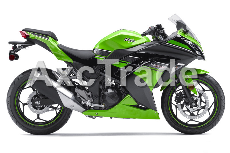 Motorcycle Fairings For Kawasaki Ninja 300 ZX300 EX300 2013 2014 13 14 ABS Plastic Injection Fairing Bodywork Kit Green Color