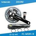 SHIMANO DEORE FC-M591 27 S fietsonderdelen Mountainbike Tandwiel mountainbike Tandwiel Crank crank Accessoires 44-32-22T