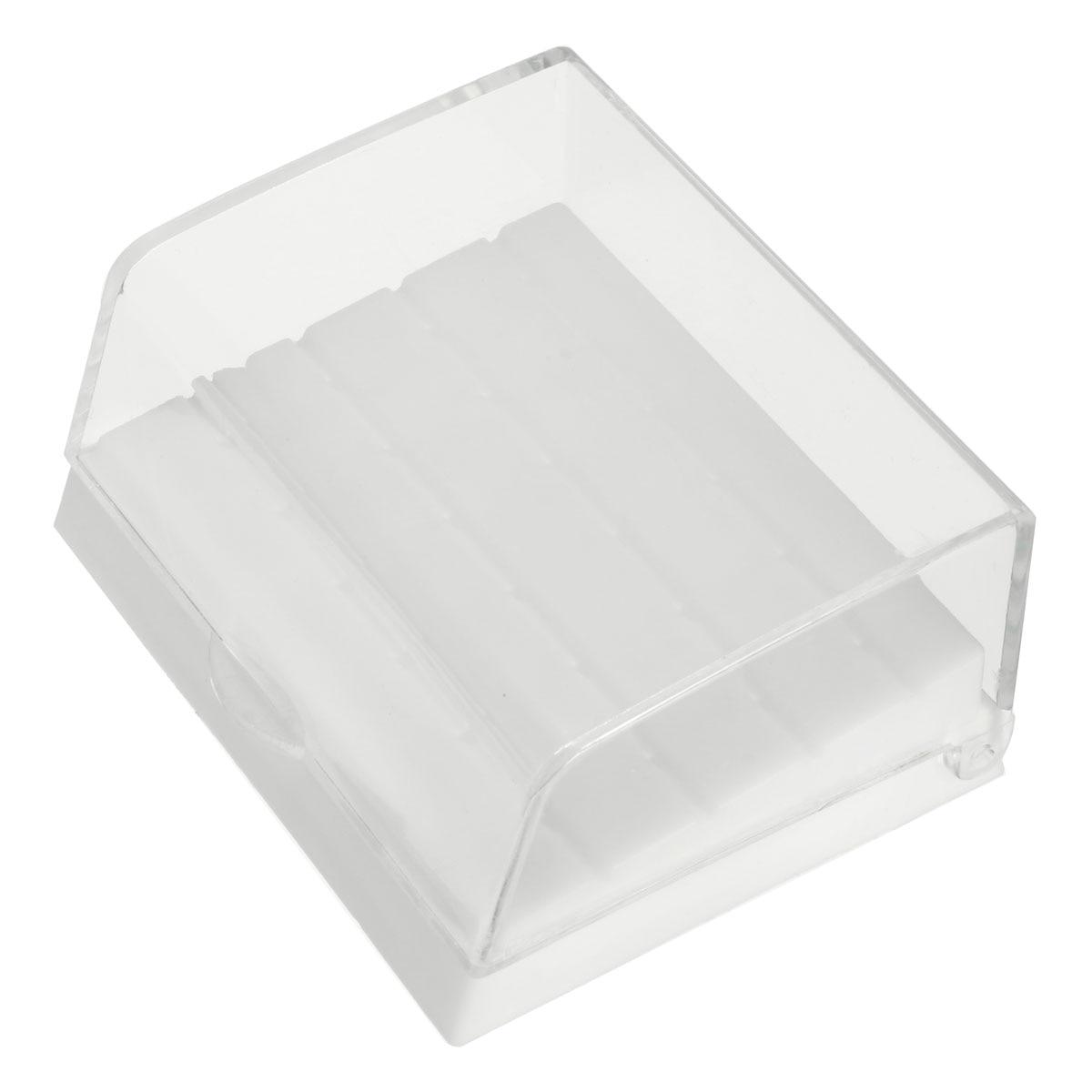 24 Holes Plastic Dental Bur Holder Disinfection Carbide Burs Block Drills Case Box Dentist Products Lab Equipment Rndom Color