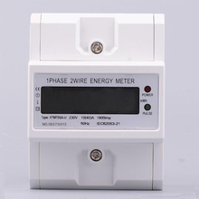 1pcs Newest DIN Rail Electronic Energy KWh Meter 1 Phase 2 Wire AC 230V ddm100tcf 15 60 a 110v 60hz three phase din rail kwh watt hour monitor meter lcd with multi tarffi