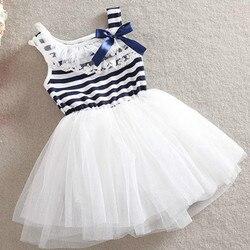 O envio gratuito de 2018 meninas bonito vestido de renda menina princesa vestido criança verão moda roupas crianças novas roupas