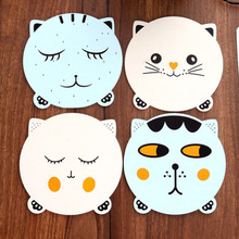 1 Piece Creative Cute Animals Cat Dining Table Placemat Coaster Kitchen Accessories Mat Cup Bar Mug