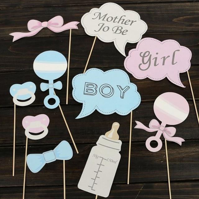 Nieuwe Party Geschenken Foto Booth Props Diy Fles Baby Shower Jongen
