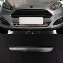 hot deal buy grille exterior durable automovil decorative bright sequins sticker strip car styling accessories covers 13 14 for ford fiesta