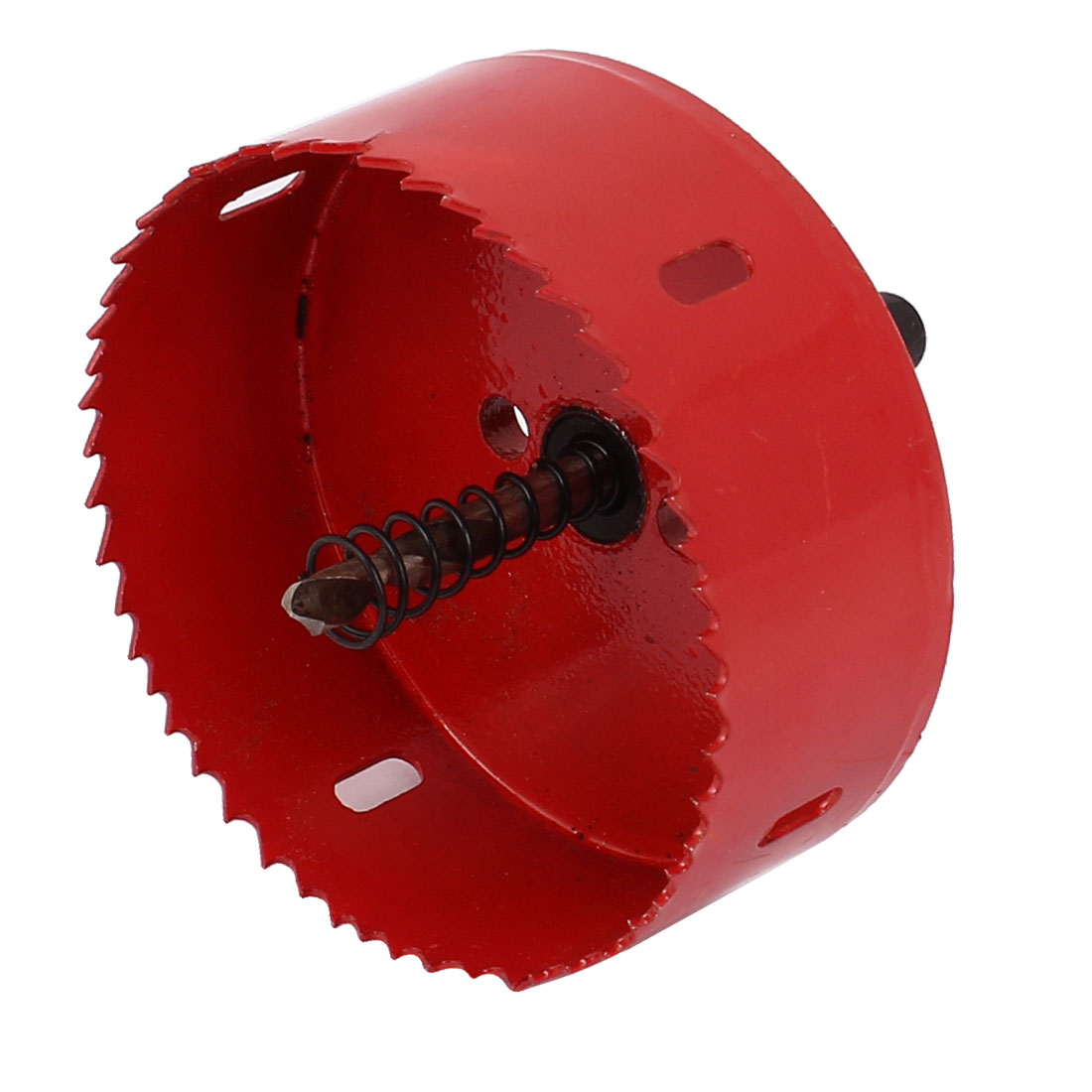 Подробнее о UXCELL 90Mm Cutting Dia Toothed Bi Metal Hole Saw Cutter Drill Bit Red For Wood Iron uxcell 16mm cut dia serrated metal hole saw cutter tool black