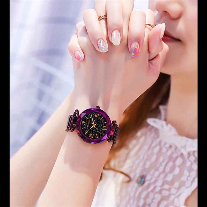 Luxury Women Watches Magnetic Starry Sky Female Clock Quartz Wristwatch Fashion Ladies Wrist Watch reloj mujer relogio feminino (5)