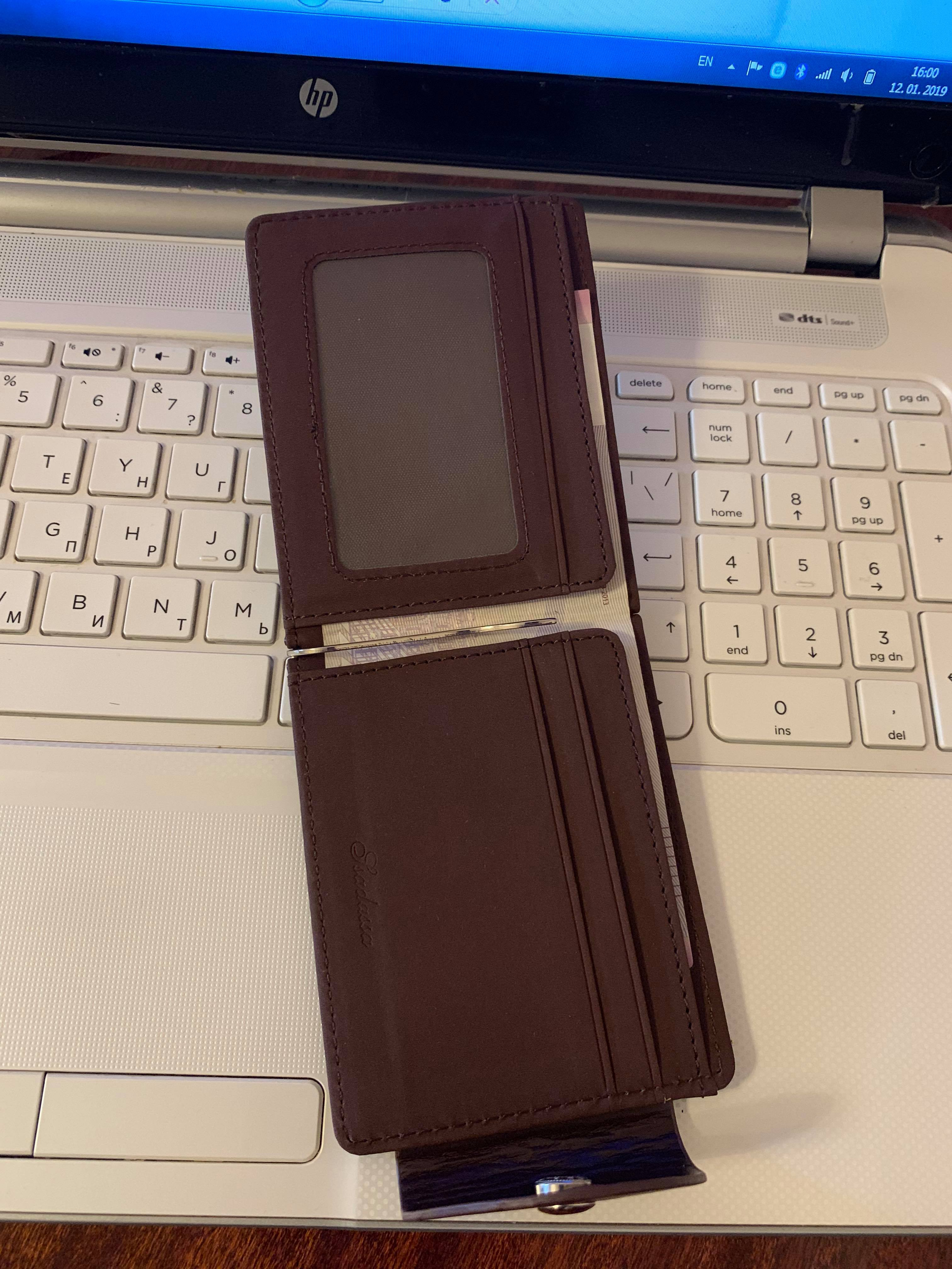 Luxury Men's Ultra-thin Leather Money Clip Slim Wallets ID Credit Card Purse A2000 photo review